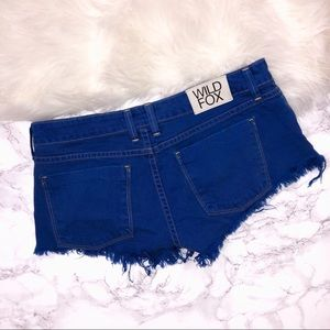 Wildfox Shorts - Wildfox Overdyed Friday Night Shorts in Cobalt